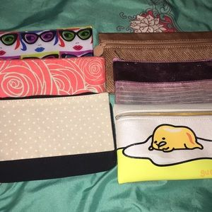 6 IPSY COSMETIC BAGS